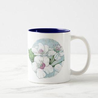 flores de la primavera taza de café de dos colores