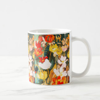 Flores de la primavera. Taza del regalo de Pascua Taza Básica Blanca