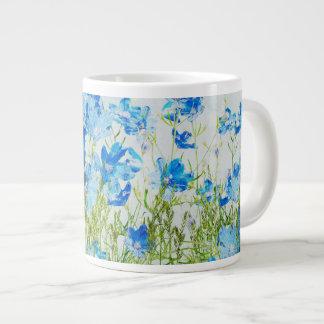 Flores de la primavera taza extra grande