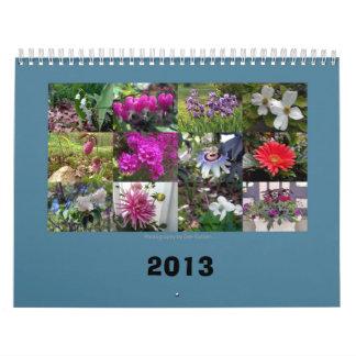 Flores de la primavera todo el año de largo calendarios de pared