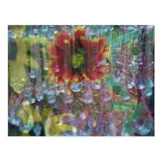 Flores de la prisma tarjetas postales