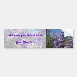 Flores de la púrpura del árbol casto pegatina para auto