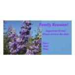 Flores de la púrpura del árbol casto tarjeta con foto personalizada