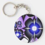 Flores de la púrpura del fractal llavero