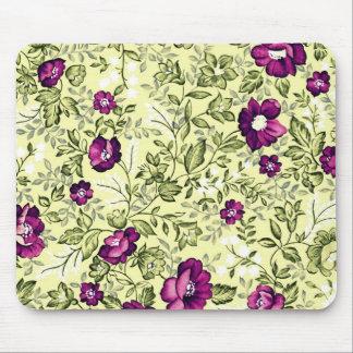 Flores de la púrpura del vintage alfombrillas de ratón