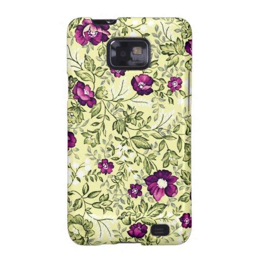 Flores de la púrpura del vintage galaxy s2 cobertura