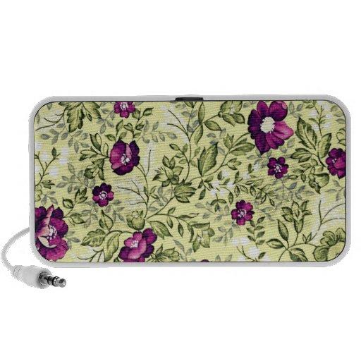 Flores de la púrpura del vintage iPhone altavoces