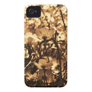flores de la sepia Case-Mate iPhone 4 carcasa