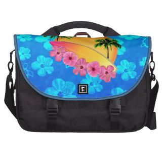 Flores de la tabla hawaiana y del hibisco bolsa para ordenador