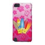 Flores de la tabla hawaiana y del hibisco funda para iPod touch 5G