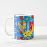 Flores de la tabla hawaiana y del hibisco tazas de café