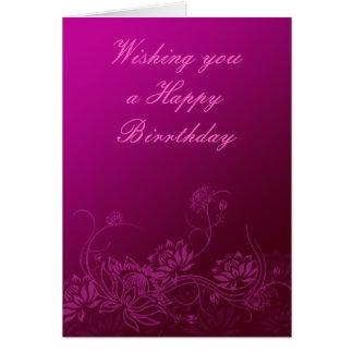 Flores de la tarjeta de cumpleaños de Oriente
