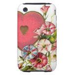 Flores de la tarjeta del día de San Valentín Tough iPhone 3 Cárcasa