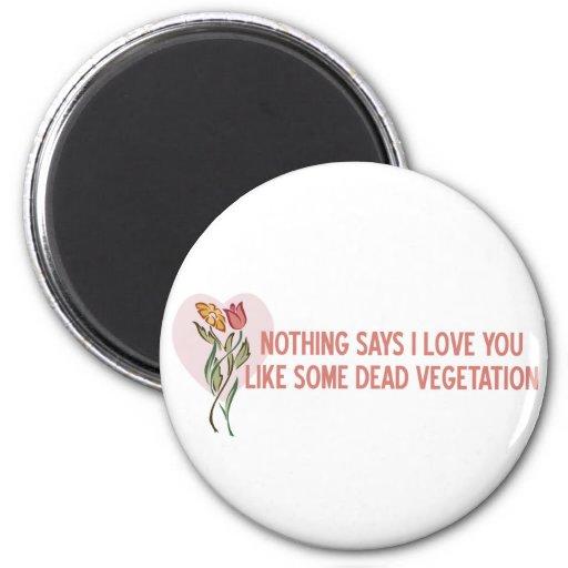 Flores de la tarjeta del día de San Valentín Imán Redondo 5 Cm