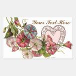 Flores de la tarjeta del día de San Valentín y Rectangular Altavoces