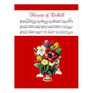 Flores de la tarjeta irlandesa del carrete de la postales