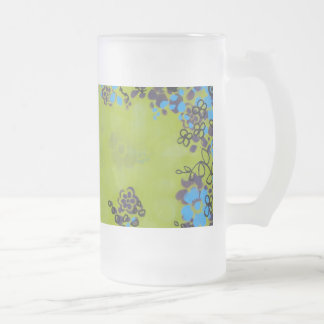 Flores de la usurpación taza de cristal