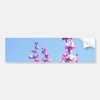Flores de la vaina púrpura pegatina de parachoque