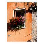 Flores de la ventana postal