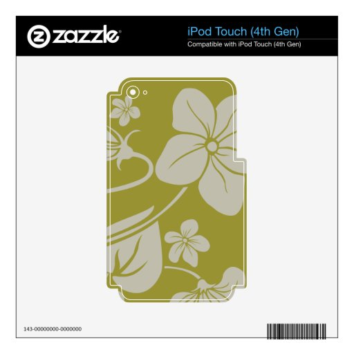 Flores de la verde lima skins para iPod touch 4G