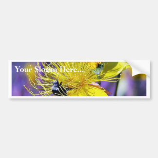 Flores de las abejas etiqueta de parachoque