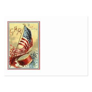 Flores de las nomeolvides del tambor de la bandera tarjetas de visita grandes