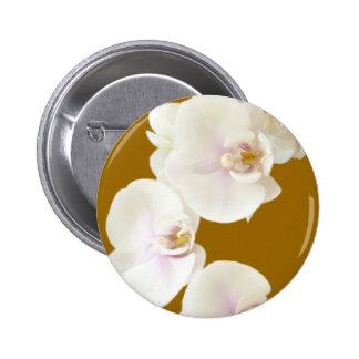 Flores de las orquídeas pin redondo 5 cm