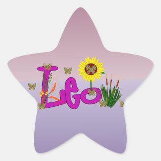 Flores de Leo Pegatina En Forma De Estrella