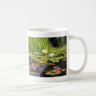 Flores de Lilly del agua Taza