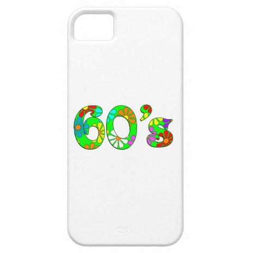 flores de los años 60 iPhone 5 Case-Mate cárcasa