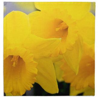 Flores de los narcisos servilletas imprimidas
