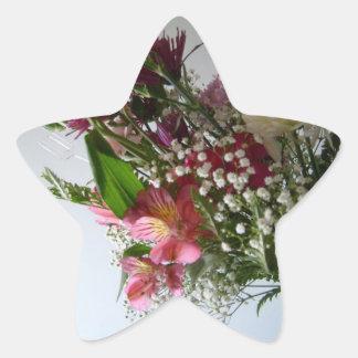 flores de los pares de la estrella pegatina en forma de estrella