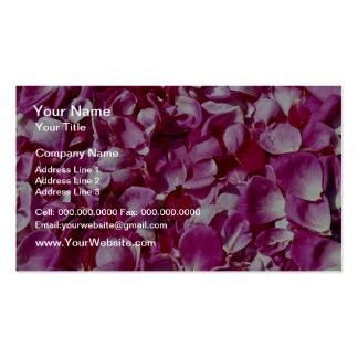 Flores de los pétalos color de rosa tarjeta de visita