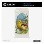 Flores de los polluelos del bebé de la primavera d skins para eliPhone 4