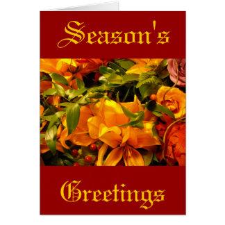 Flores de los saludos de la estación tarjeta de felicitación