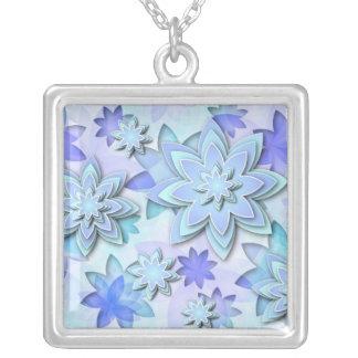 Flores de loto abstractas del collar