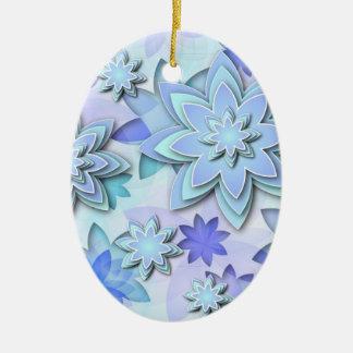 Flores de loto abstractas del ornamento ornaments para arbol de navidad