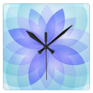 Flores de loto del extracto del reloj de pared