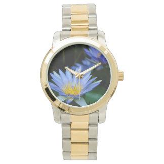 Flores de loto hermosas relojes de pulsera