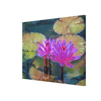 Flores de Lotus florecientes Lienzo Envuelto Para Galerias
