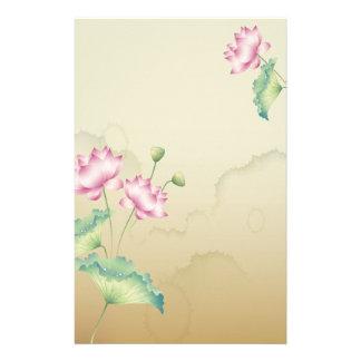 Flores de Lotus inmóviles Papelería