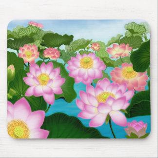 Flores de Lotus Mousepad