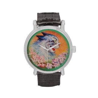 Flores de Louis Wain del vintage para usted reloj
