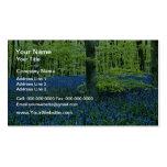 Flores de maderas del Bluebell de la aguamarina Plantillas De Tarjetas Personales
