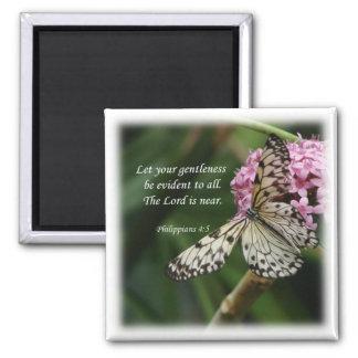 Flores de mariposa del 4 5 de los filipenses imanes para frigoríficos