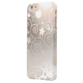 Flores de mariposa del damasco funda de iPhone 6 plus barely there