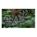 Flores de mariposa plantilla de tarjeta de visita
