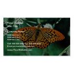 Flores de mariposa plantillas de tarjetas personales