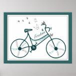 Flores de mariposas y fans delicadas de la bici de posters