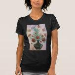 Flores de mármol del mosaico camisetas